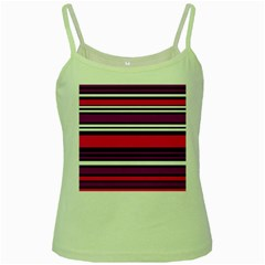 Stripes Colorful Background Green Spaghetti Tank