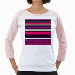 Stripes Colorful Background Girly Raglans