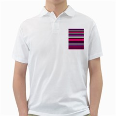 Stripes Colorful Background Golf Shirts