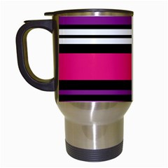 Stripes Colorful Background Travel Mugs (White)