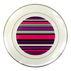 Stripes Colorful Background Porcelain Plates