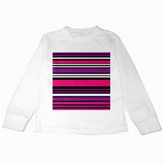 Stripes Colorful Background Kids Long Sleeve T-Shirts