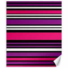 Stripes Colorful Background Canvas 8  x 10