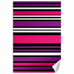 Stripes Colorful Background Canvas 24  x 36