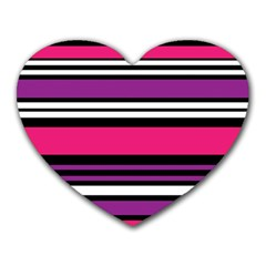 Stripes Colorful Background Heart Mousepads