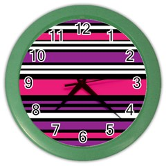 Stripes Colorful Background Color Wall Clocks