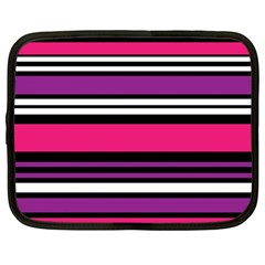 Stripes Colorful Background Netbook Case (large)