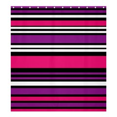 Stripes Colorful Background Shower Curtain 66  x 72  (Large)