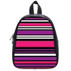 Stripes Colorful Background School Bags (Small)