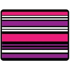 Stripes Colorful Background Fleece Blanket (Large)