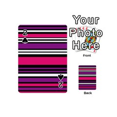 Stripes Colorful Background Playing Cards 54 (Mini)