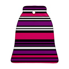 Stripes Colorful Background Bell Ornament (Two Sides)