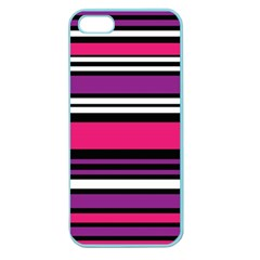 Stripes Colorful Background Apple Seamless Iphone 5 Case (color)