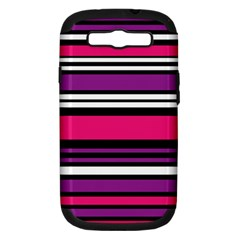 Stripes Colorful Background Samsung Galaxy S III Hardshell Case (PC+Silicone)
