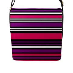 Stripes Colorful Background Flap Messenger Bag (l)