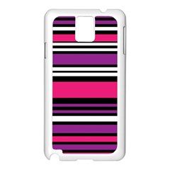 Stripes Colorful Background Samsung Galaxy Note 3 N9005 Case (White)