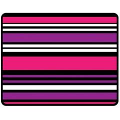 Stripes Colorful Background Double Sided Fleece Blanket (medium)
