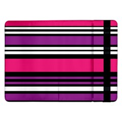 Stripes Colorful Background Samsung Galaxy Tab Pro 12 2  Flip Case