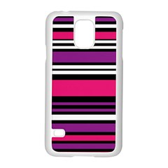 Stripes Colorful Background Samsung Galaxy S5 Case (White)