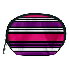 Stripes Colorful Background Accessory Pouches (medium)
