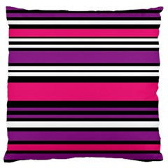 Stripes Colorful Background Large Flano Cushion Case (Two Sides)