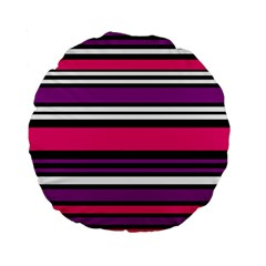 Stripes Colorful Background Standard 15  Premium Flano Round Cushions