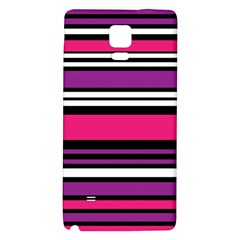 Stripes Colorful Background Galaxy Note 4 Back Case