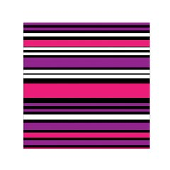 Stripes Colorful Background Small Satin Scarf (Square)
