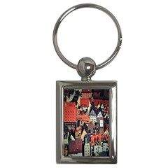 Tilt Shift Of Urban View During Daytime Key Chains (Rectangle)