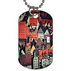 Tilt Shift Of Urban View During Daytime Dog Tag (Two Sides)
