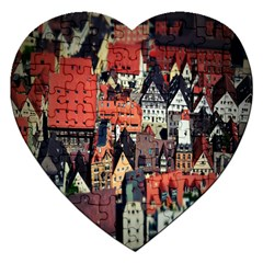 Tilt Shift Of Urban View During Daytime Jigsaw Puzzle (Heart)