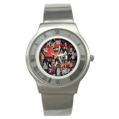 Tilt Shift Of Urban View During Daytime Stainless Steel Watch