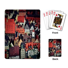 Tilt Shift Of Urban View During Daytime Playing Card
