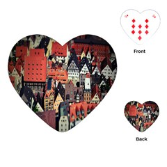 Tilt Shift Of Urban View During Daytime Playing Cards (Heart)