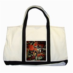 Tilt Shift Of Urban View During Daytime Two Tone Tote Bag