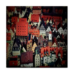 Tilt Shift Of Urban View During Daytime Face Towel