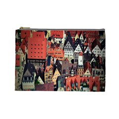 Tilt Shift Of Urban View During Daytime Cosmetic Bag (Large)