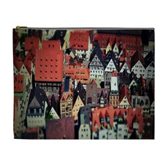 Tilt Shift Of Urban View During Daytime Cosmetic Bag (xl)