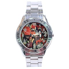 Tilt Shift Of Urban View During Daytime Stainless Steel Analogue Watch
