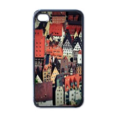 Tilt Shift Of Urban View During Daytime Apple iPhone 4 Case (Black)