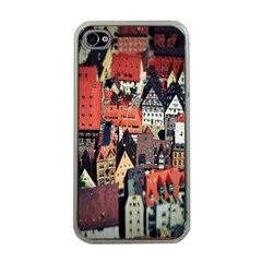 Tilt Shift Of Urban View During Daytime Apple iPhone 4 Case (Clear)