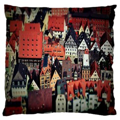 Tilt Shift Of Urban View During Daytime Large Cushion Case (two Sides)