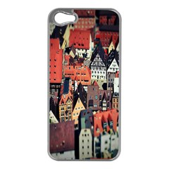 Tilt Shift Of Urban View During Daytime Apple iPhone 5 Case (Silver)