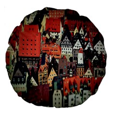 Tilt Shift Of Urban View During Daytime Large 18  Premium Round Cushions
