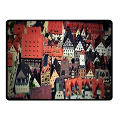 Tilt Shift Of Urban View During Daytime Double Sided Fleece Blanket (Small)