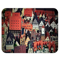 Tilt Shift Of Urban View During Daytime Double Sided Flano Blanket (Medium)