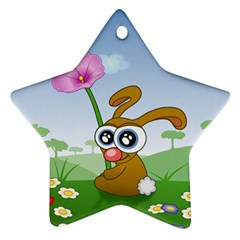 Easter Spring Flowers Happy Ornament (star)