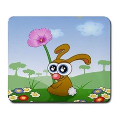 Easter Spring Flowers Happy Large Mousepads