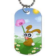 Easter Spring Flowers Happy Dog Tag (one Side)
