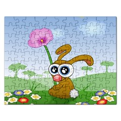 Easter Spring Flowers Happy Rectangular Jigsaw Puzzl